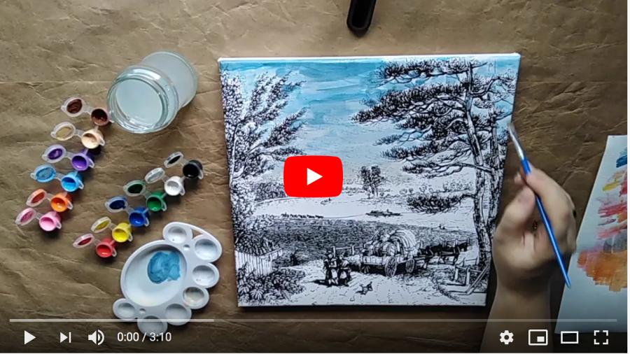 Gama de produse School Friendly Art - timelapse pictură pe pânză