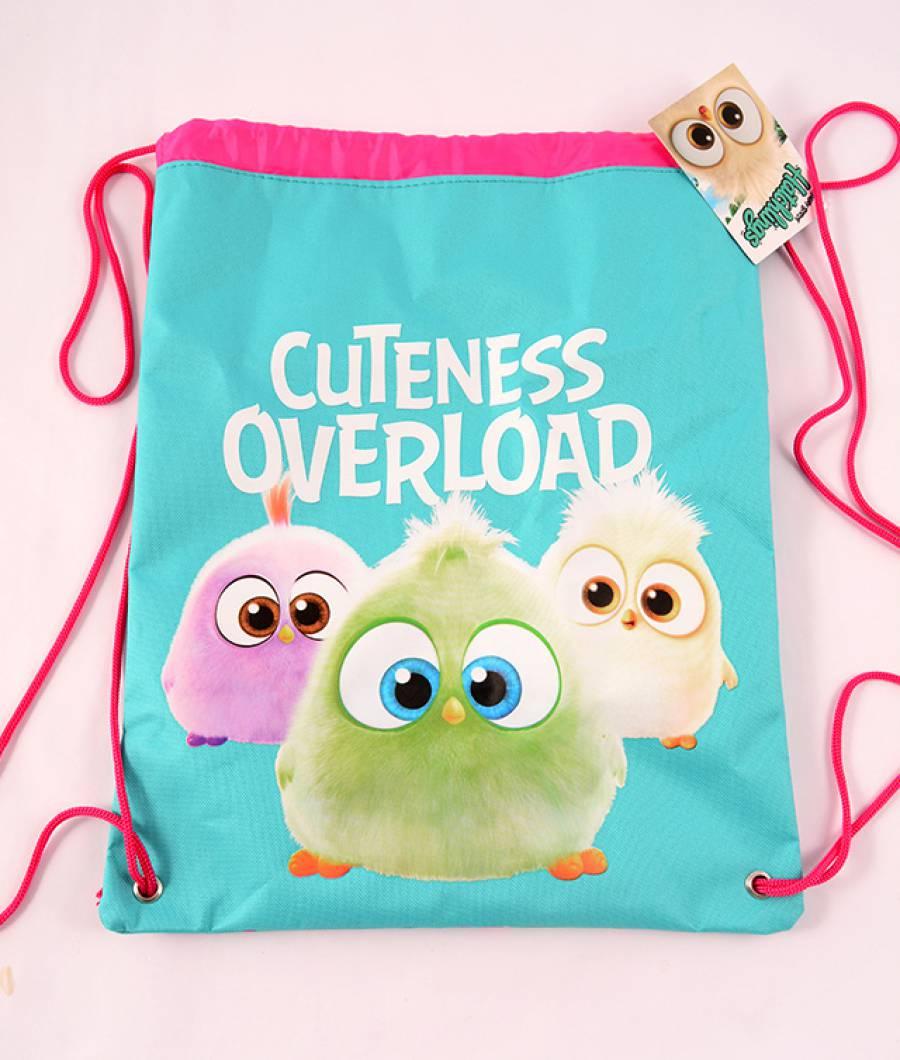 Sac sport roz-turcoaz Angry Birds Hatchlings