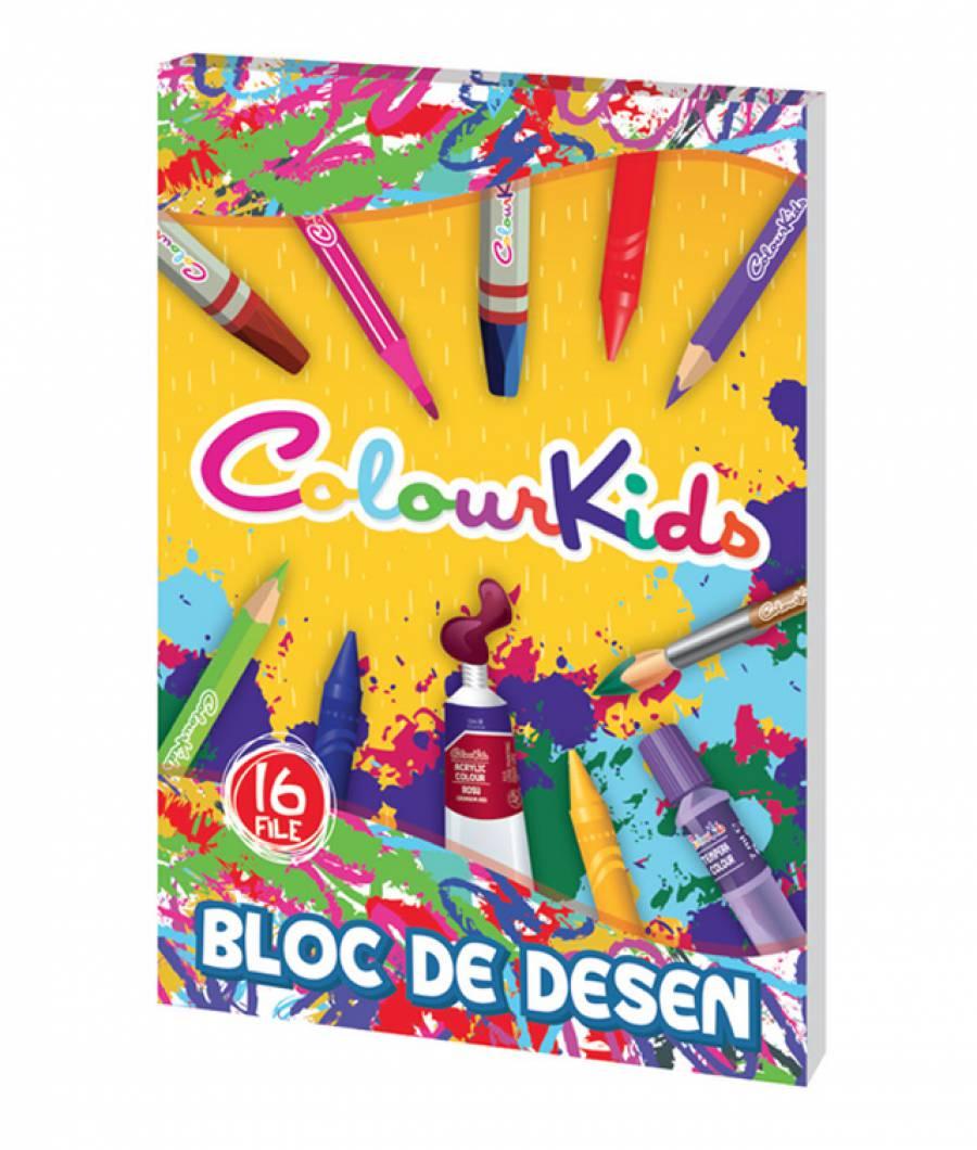 Bloc desen A4 16file  110g ColourKids