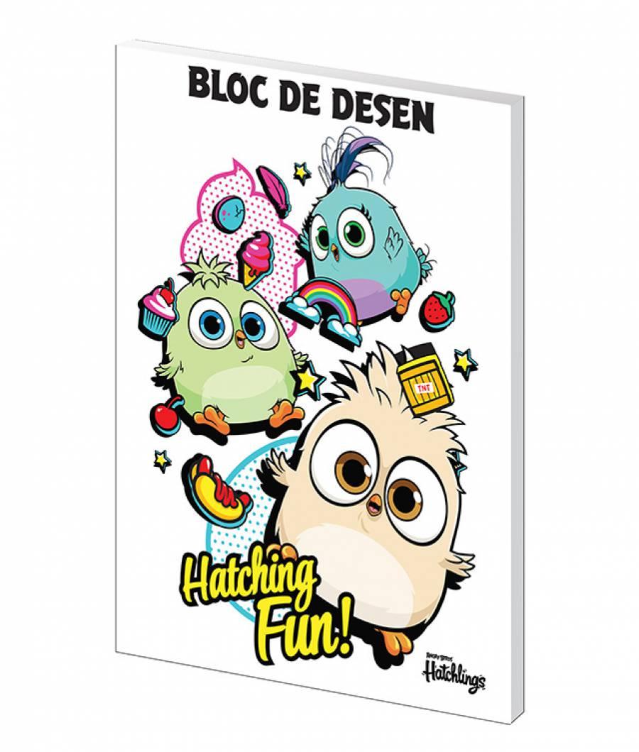 Bloc desen A4 160g 16 file Angry Birds