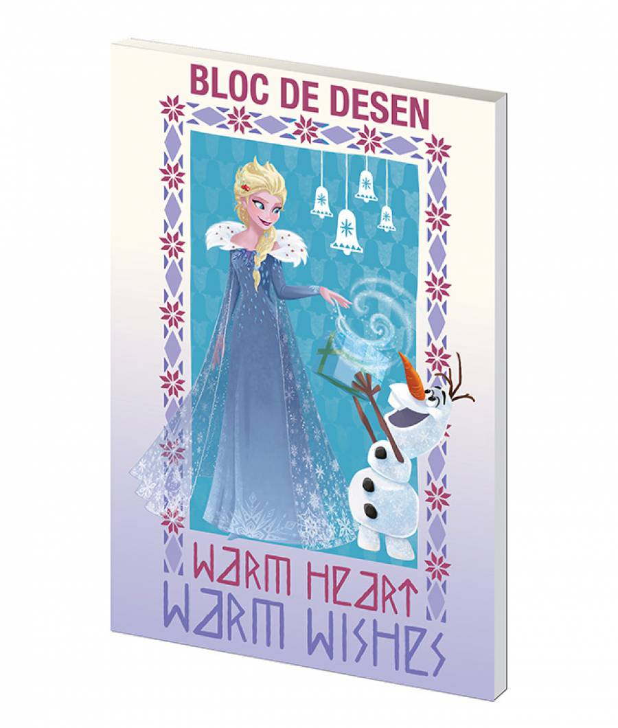 Bloc desen A4 160g 16file Frozen