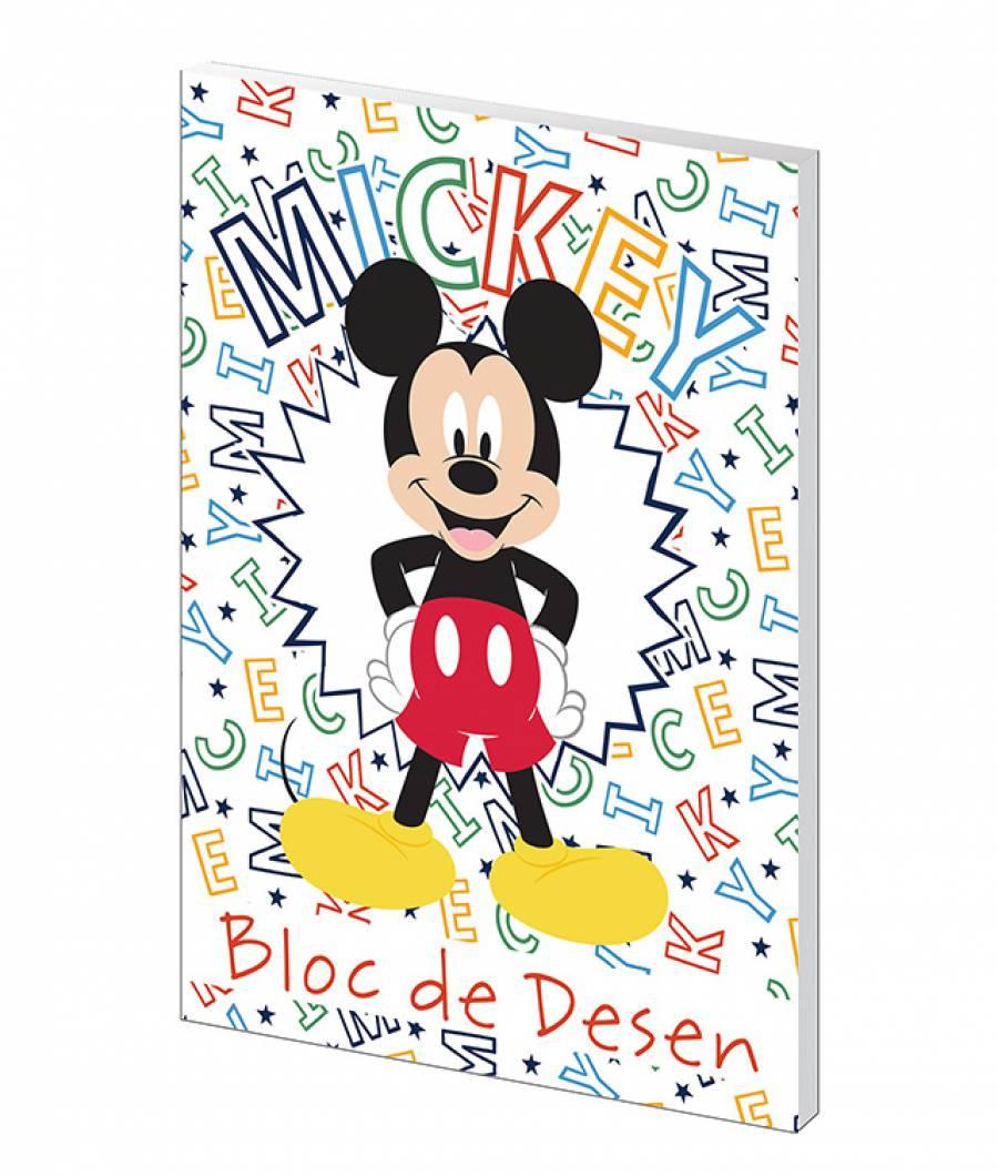 Bloc desen A4 160g 16file Mickey Mouse