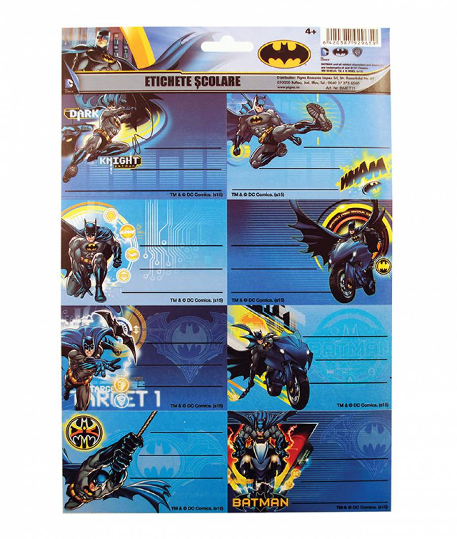 Etichete scolare 40/set Batman