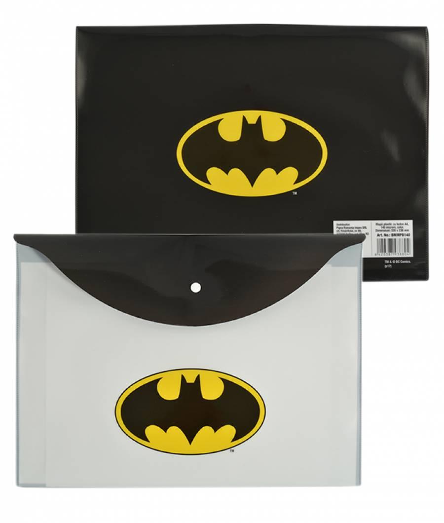 Mapa  plastic  cu buton A4, Batman