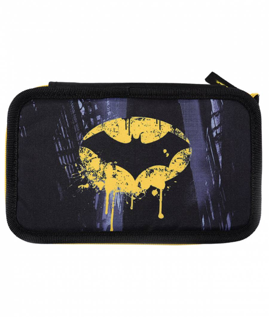 Penar 3 fermoare negru logo Batman
