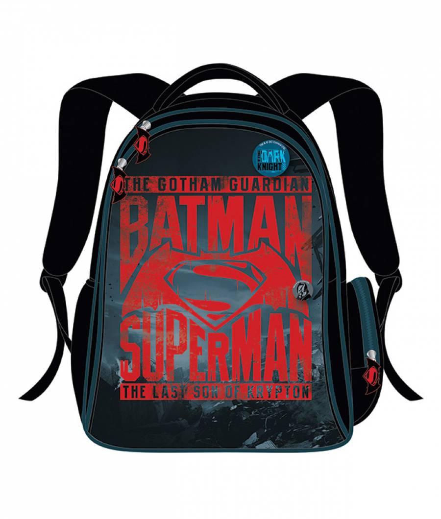 Ghiozdan Gimnaziu Batman Negru cu Rosu