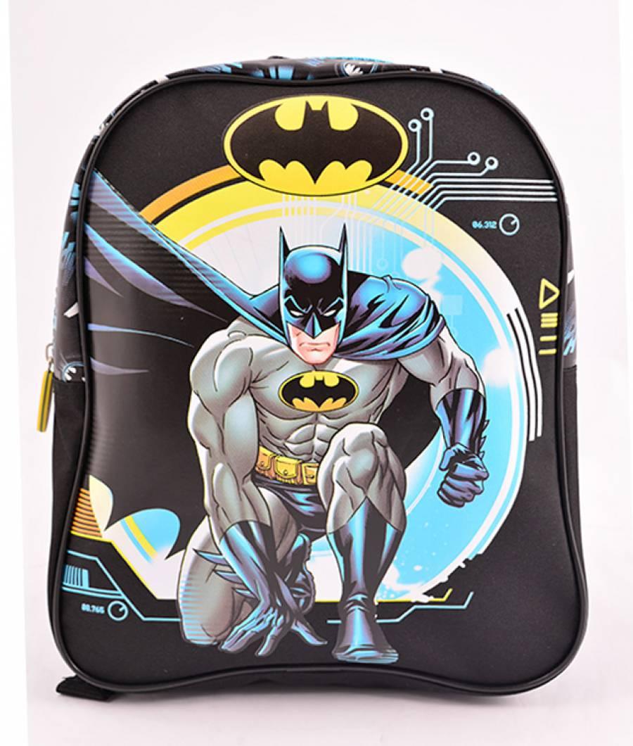 Mini Ghiozdan Gradinita Batman Negru Albastru