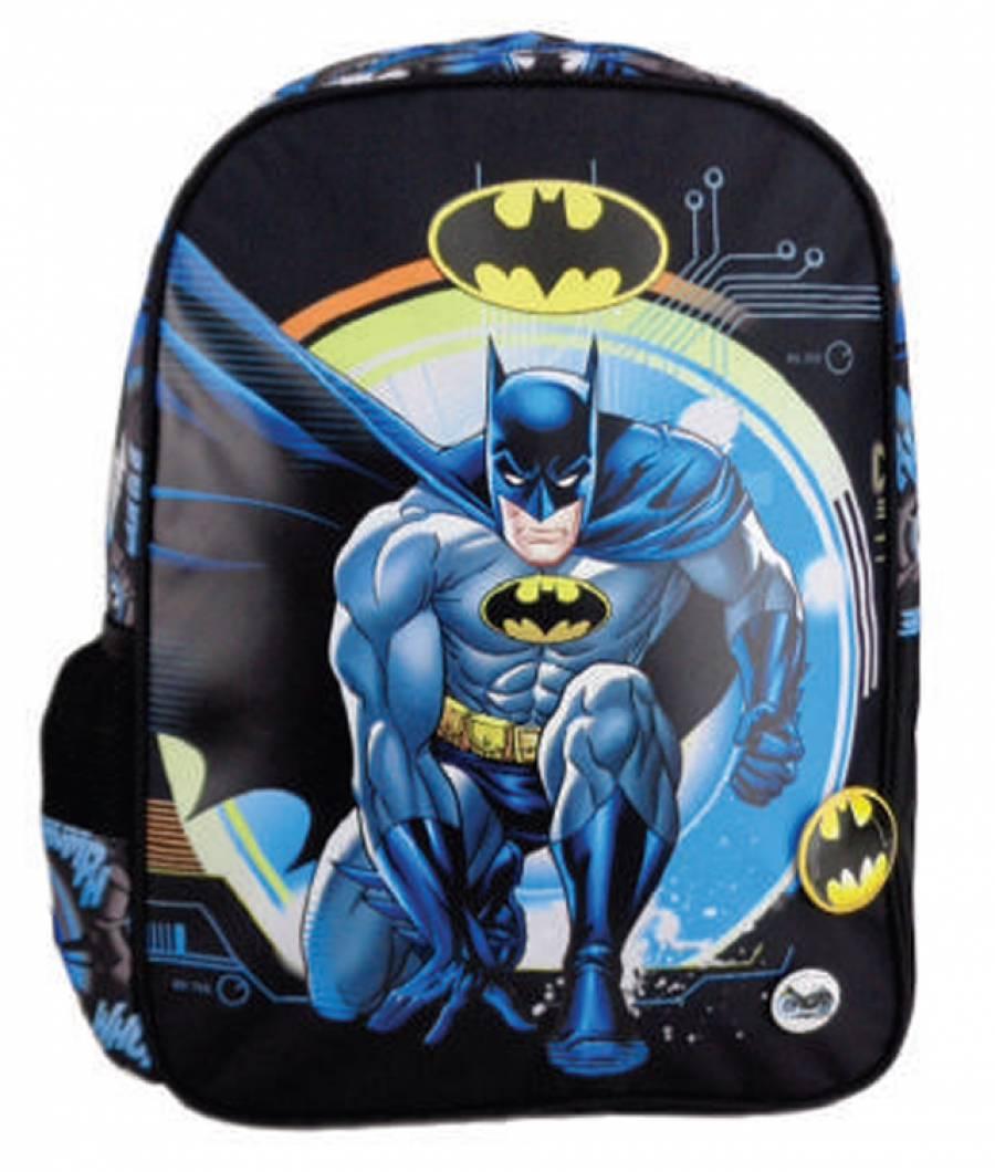 Ghiozdan Gradinita Batman Negru Albastru Batman