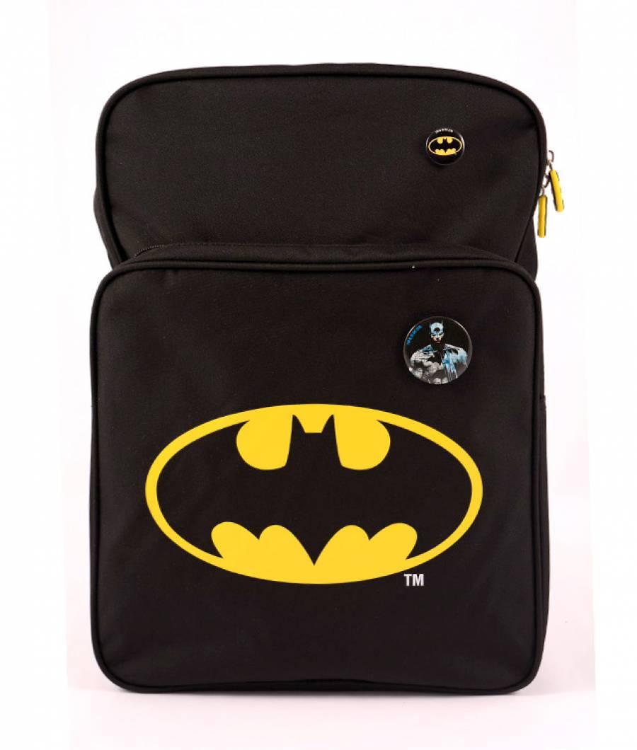 Ghiozdan negru logo Batman