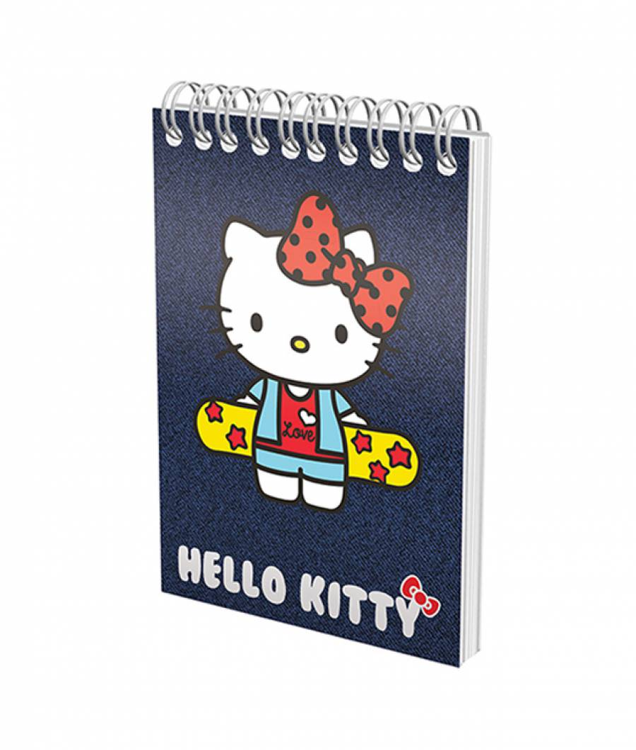 Blocnotes cu spira A6 70file, matematica, 80g/mp HelloKitty .