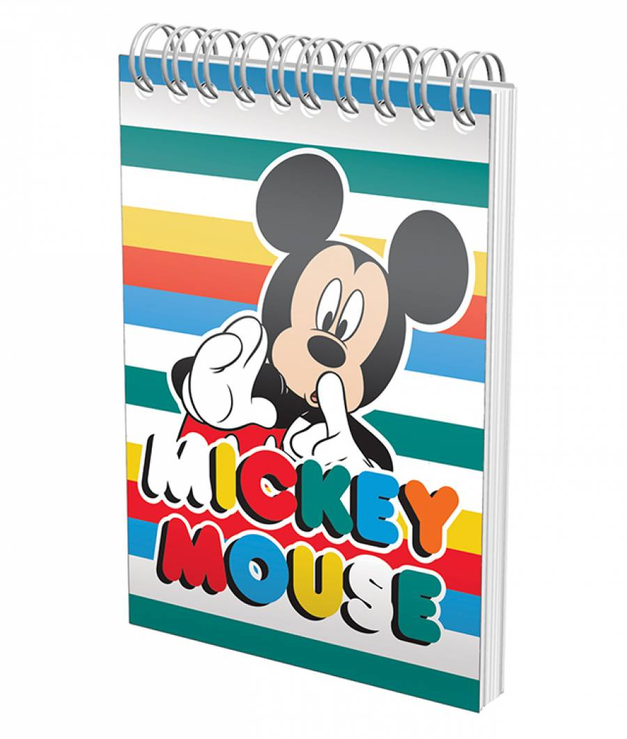 Blocnotes cu spira A6 70file, matematica, 80g/mp Mickey .