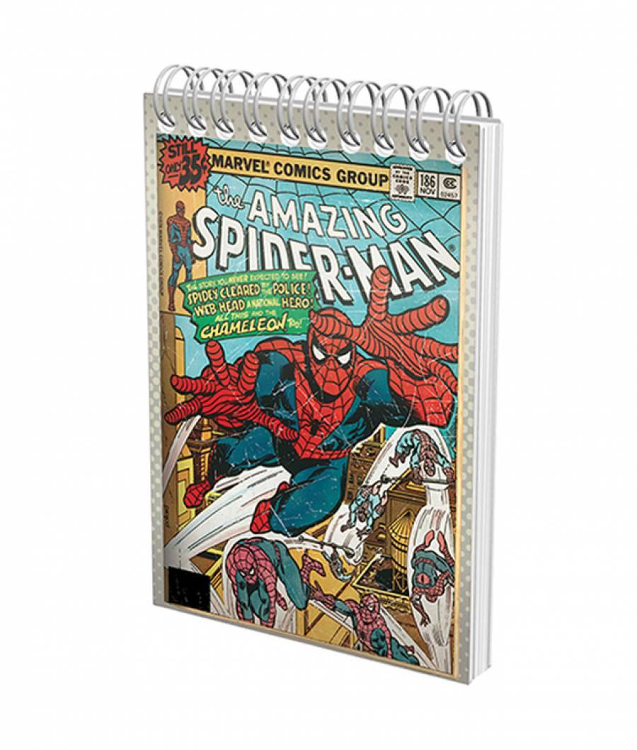 Blocnotes cu spira A6 70file, matematica, 80g/mp Spiderman