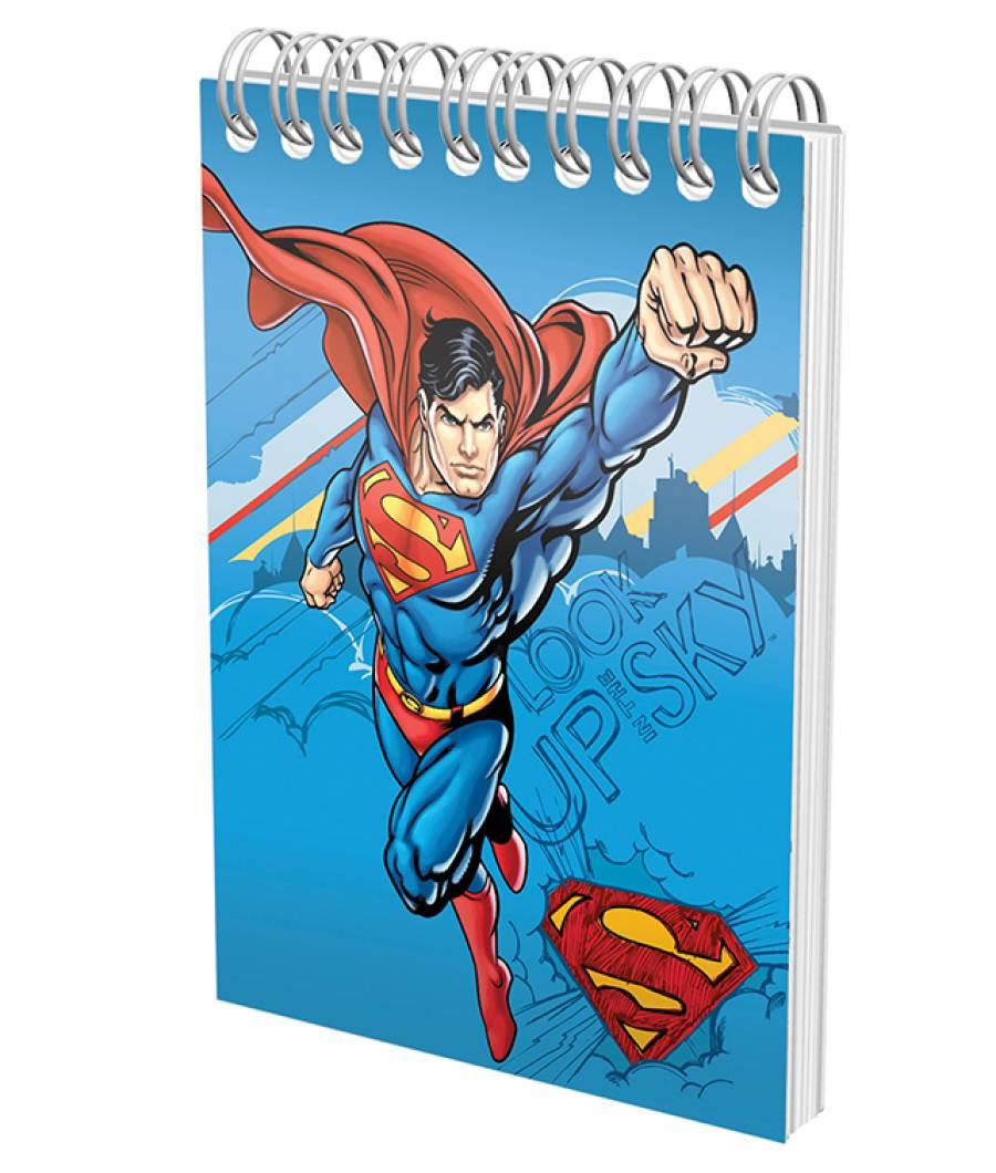 Blocnotes cu spira A6 70file, matematica, 80g/mp Superman