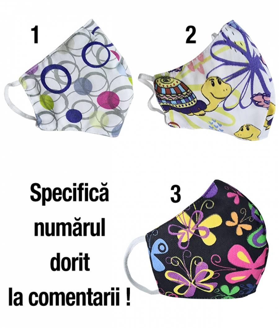 Masca protectie din material textil ptr copii