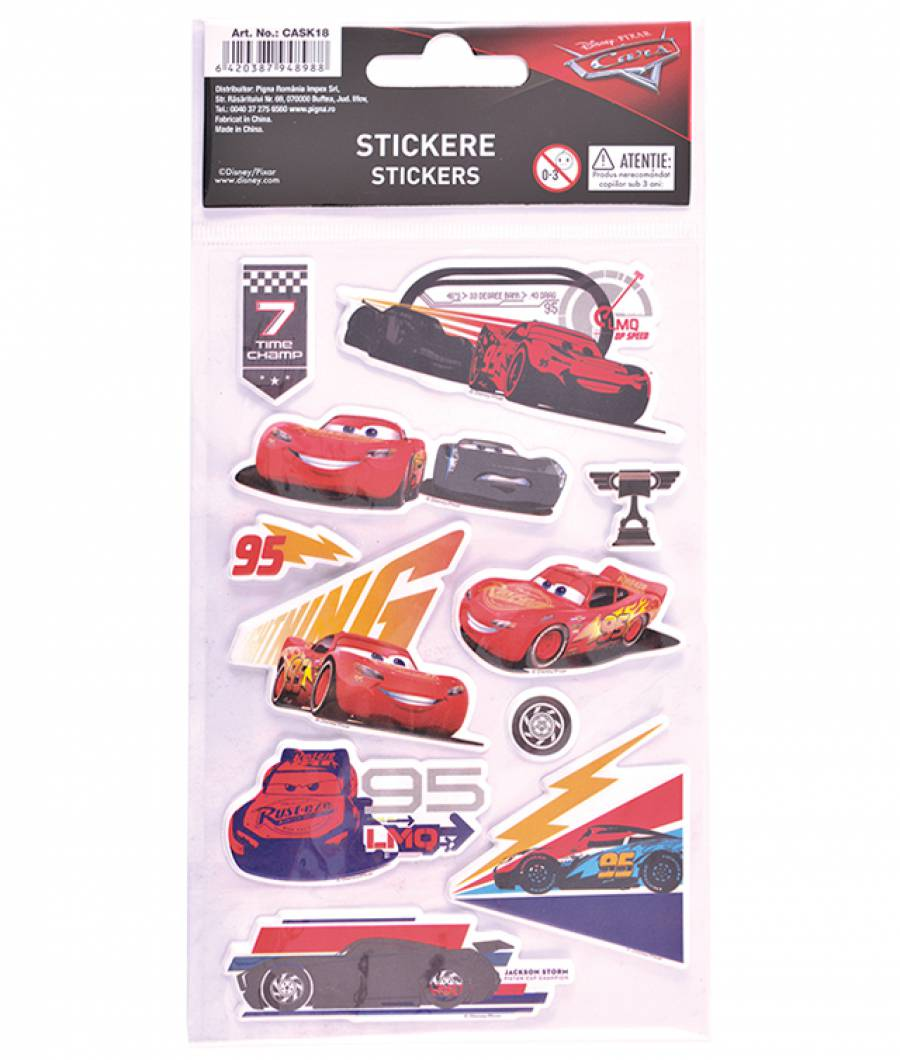 Stickere pop-up Cars