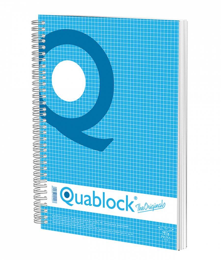Caiet spira A4 120file, matematica, Quablock