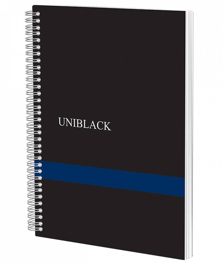 Caiet Spira Uniblack PP 700 mic A4 120f M 70gr, cop. albastra