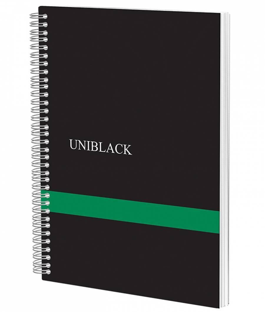 Caiet Spira Uniblack PP 700 mic A4 120f M 70gr, cop. verde