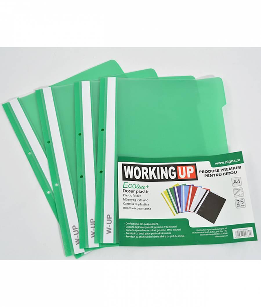 Dosar pl 2 gauri, ECO W-UP, 25/set, verde
