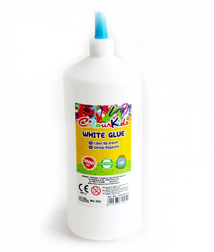 Lipici CK scolar alb 1000ml NON TOXIC Colour KIDS