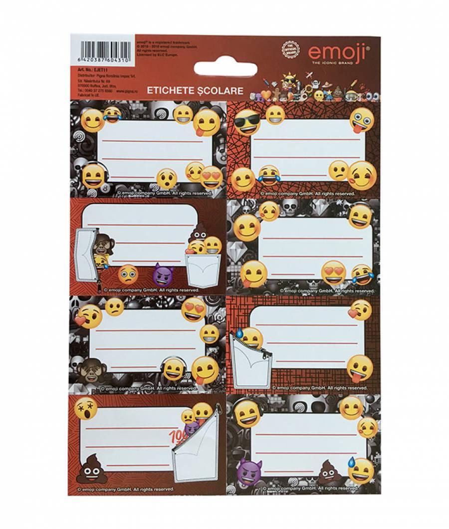 Etichete scolare 40/set Emoji Clasic