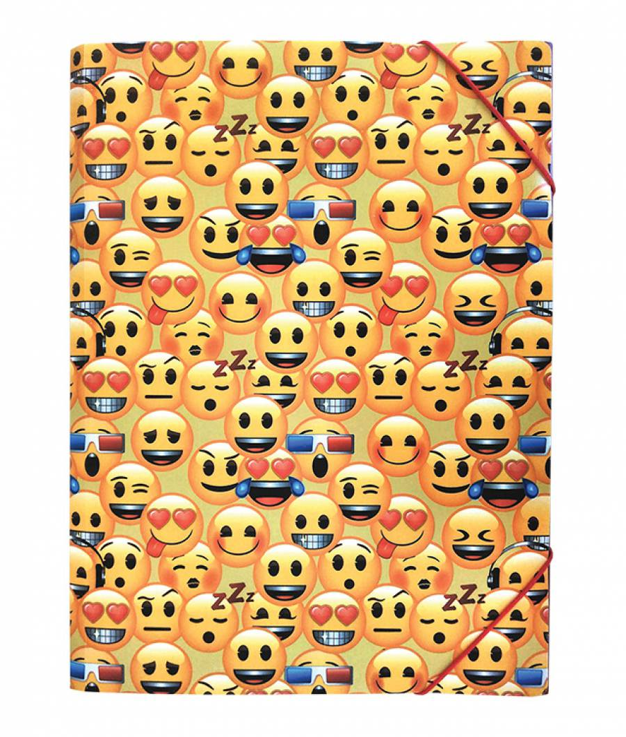 Mapa  plastic  cu elastic A4, Emoji Clasic