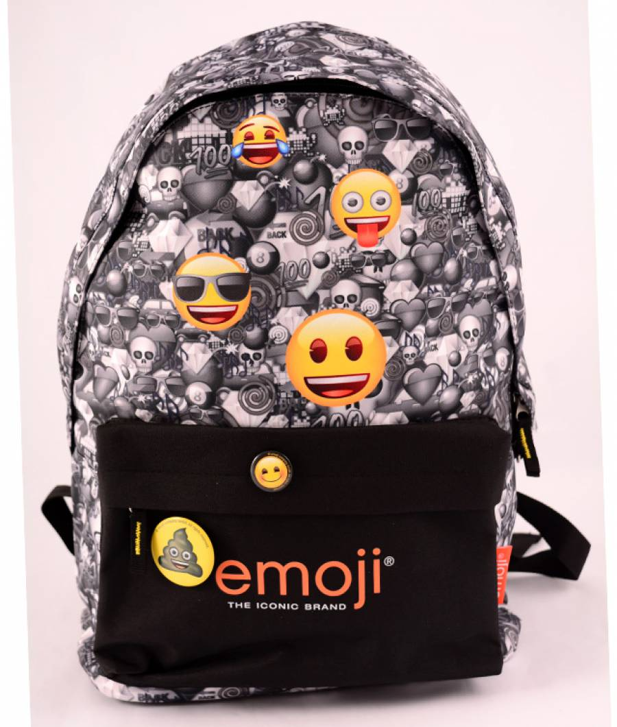 Ghiozdan Teens Emoji Clasic