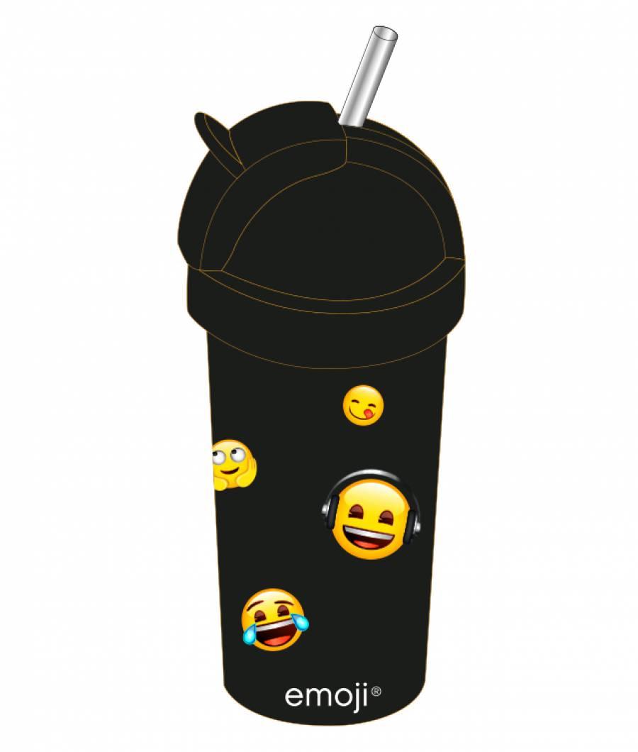 Sticla lichide copiii 380ml Emoji  din material plastic certifcat