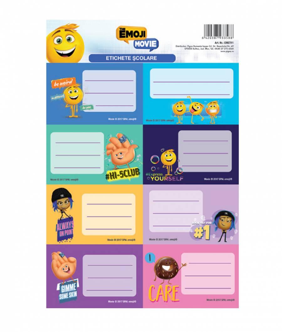 Etichete scolare 40/set Emoji
