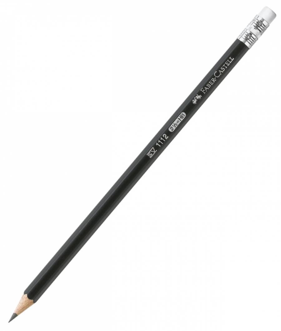 Creion Grafit Cu Guma 1112 HB Faber-Castell