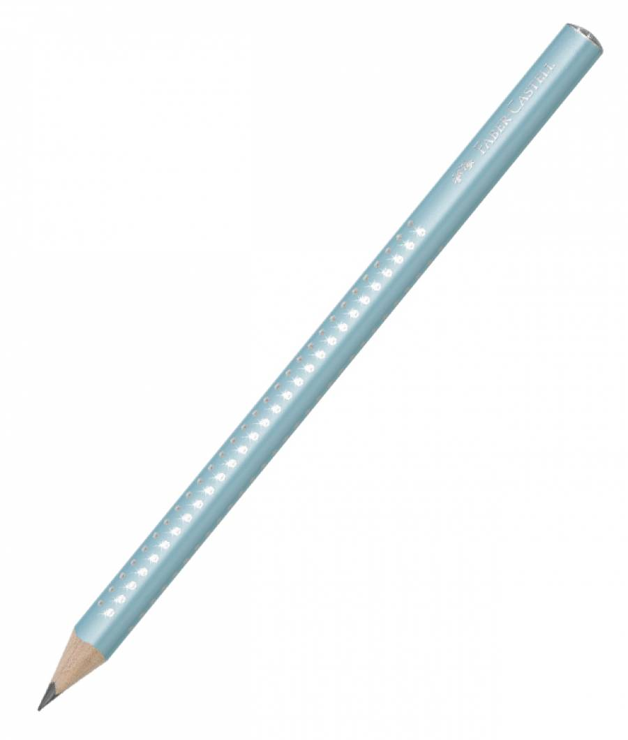 Creion Grafit B Sparkle Jumbo Turcoaz 2019 Faber-Castell