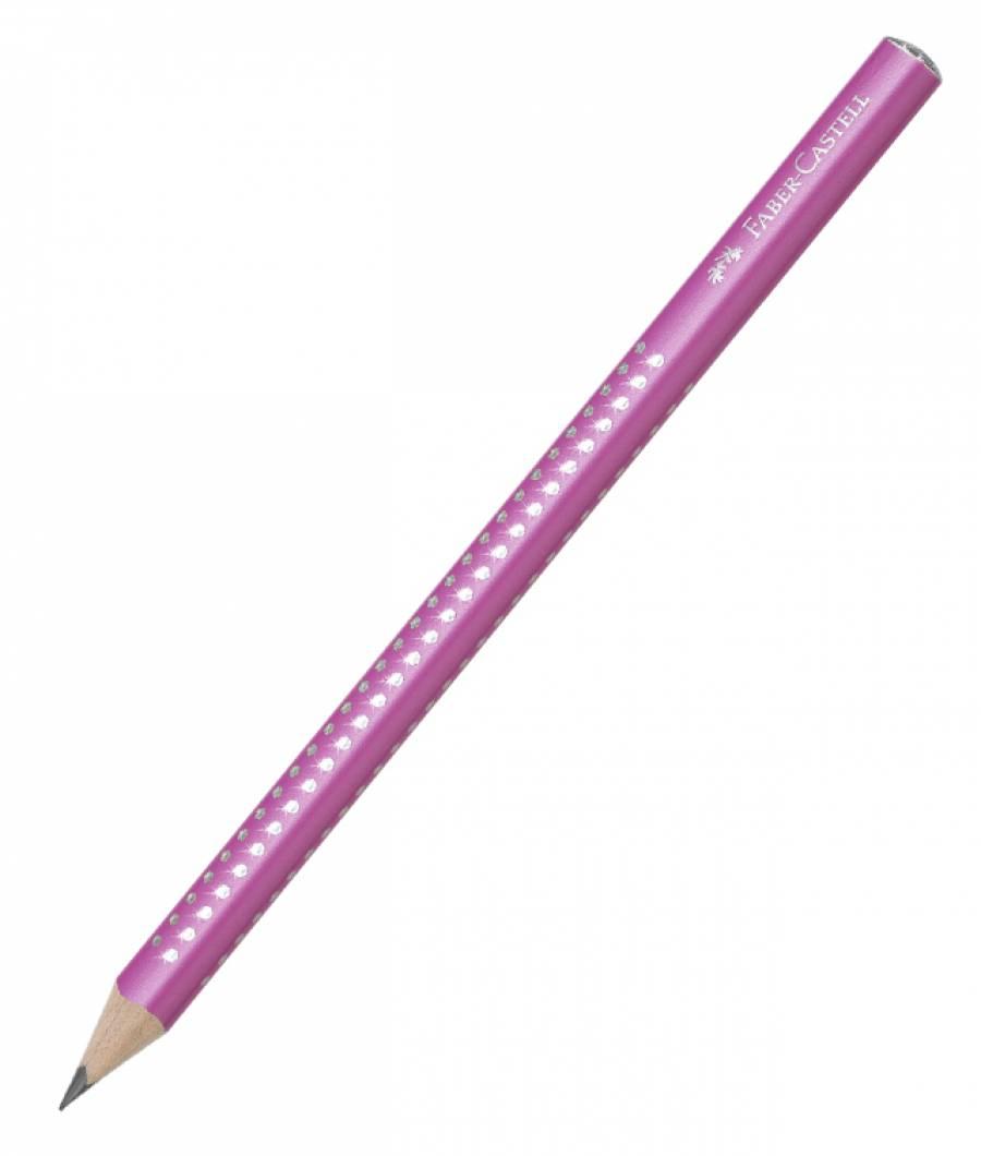 Creion Grafit B Sparkle Jumbo Roz 2019 Faber-Castell