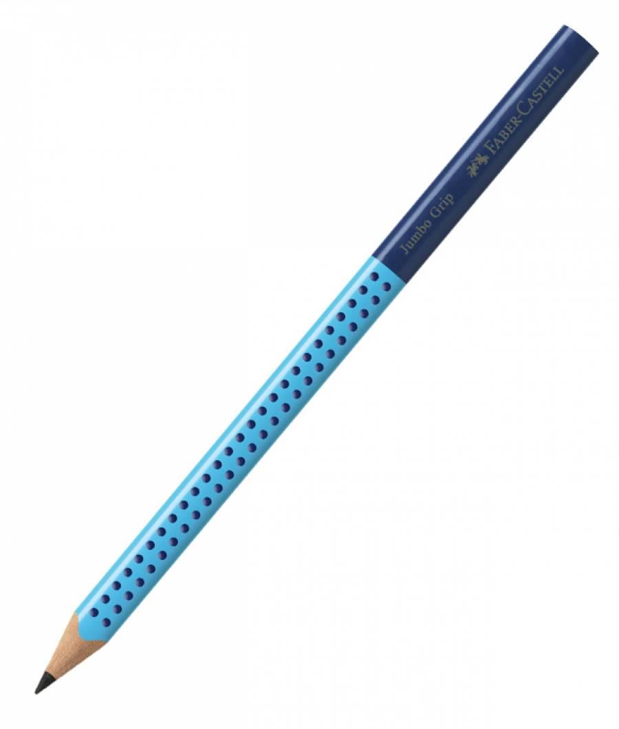 Creion Grafit B Jumbo Grip Two Tone Albastru Faber-Castell
