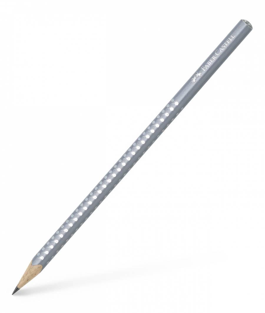Creion Grafit B Sparkle Gri 2019 Faber-Castell