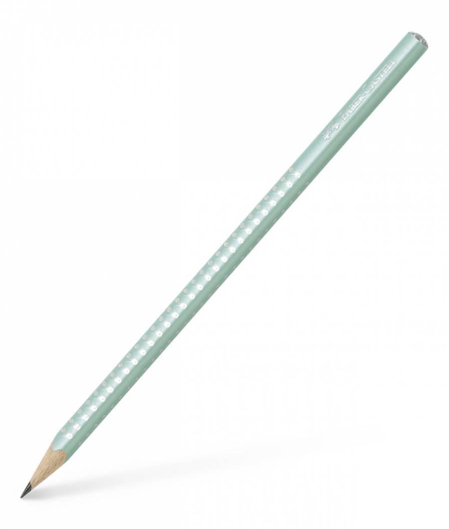 Creion Grafit B Sparkle Vernil Menta 2019 Faber-Castell