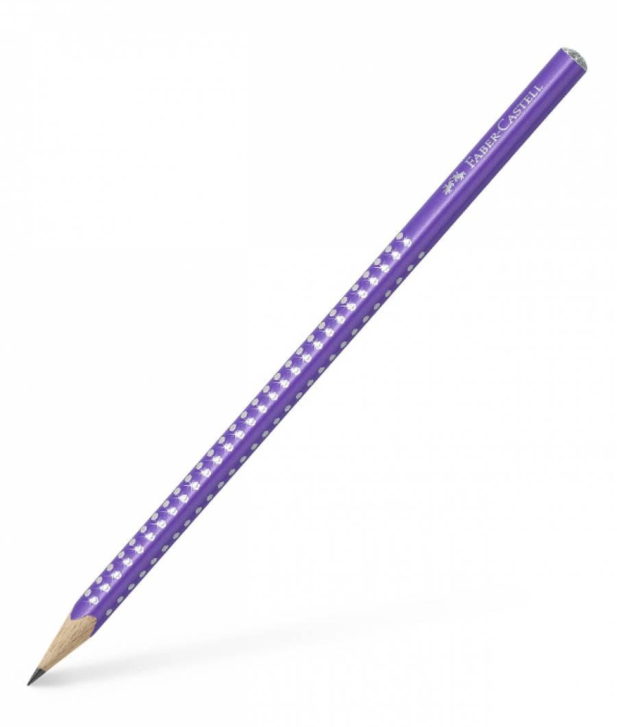 Creion Grafit B Sparkle Violet 2019 Faber-Castell