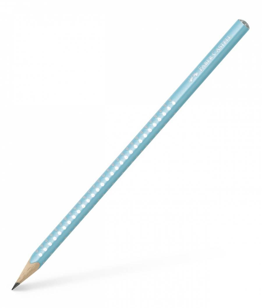 Creion Grafit B Sparkle Turcoaz 2019 Faber-Castell