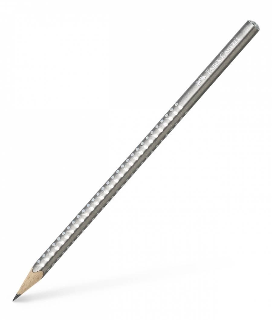 Creion Grafit B Sparkle Argintiu 2019 Faber-Castell