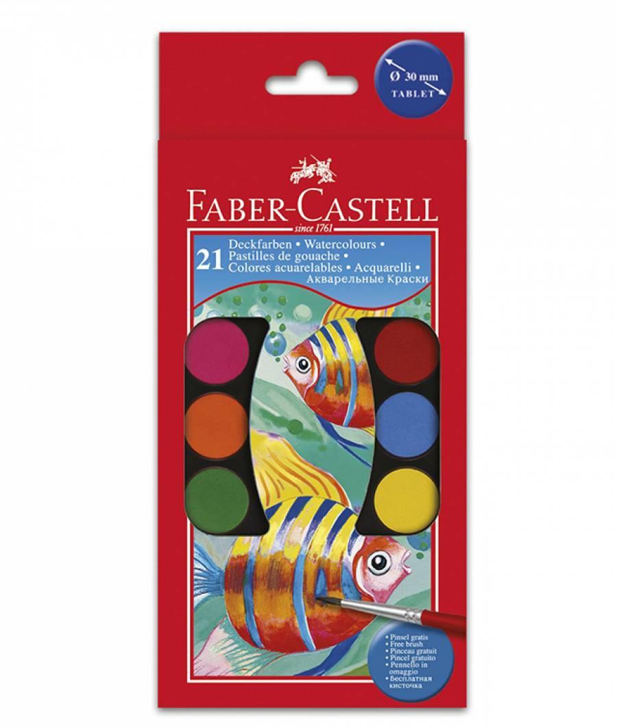 Acuarele 21 culori Pensula Faber-Castell