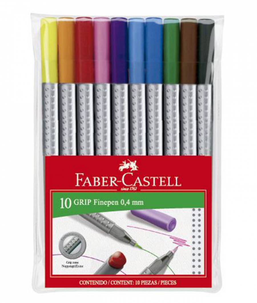 Liner 0.4 mm Grip set Faber-Castell