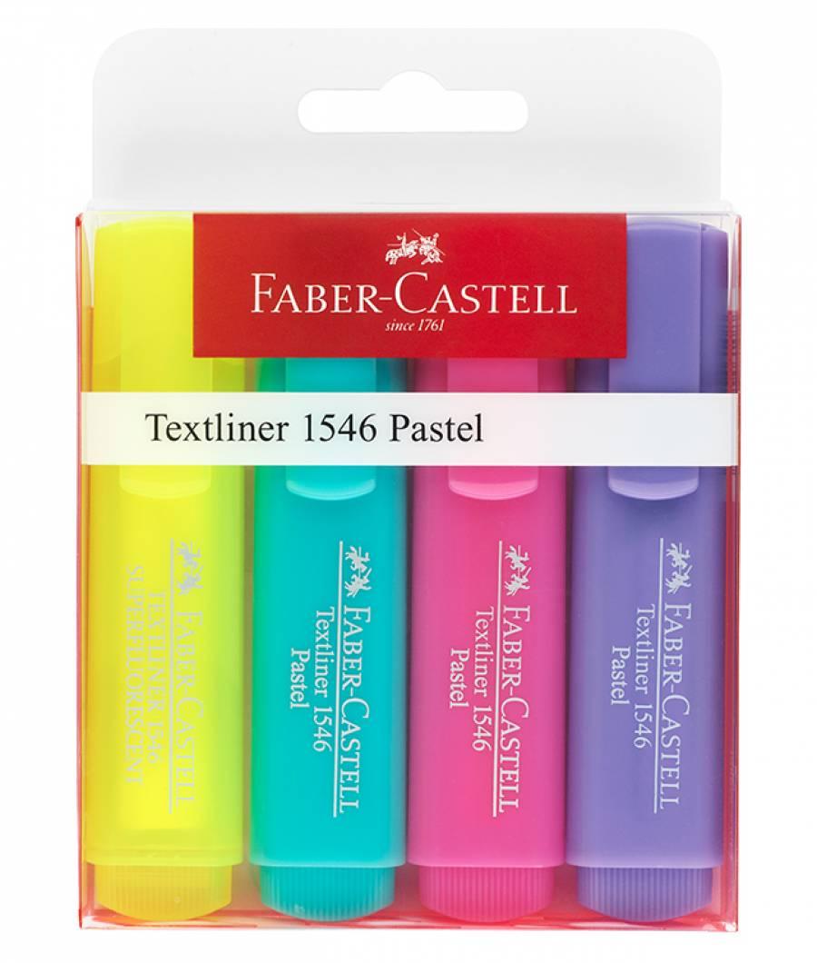 Textmarker Set 4 Pastel 1546 Faber-Castell