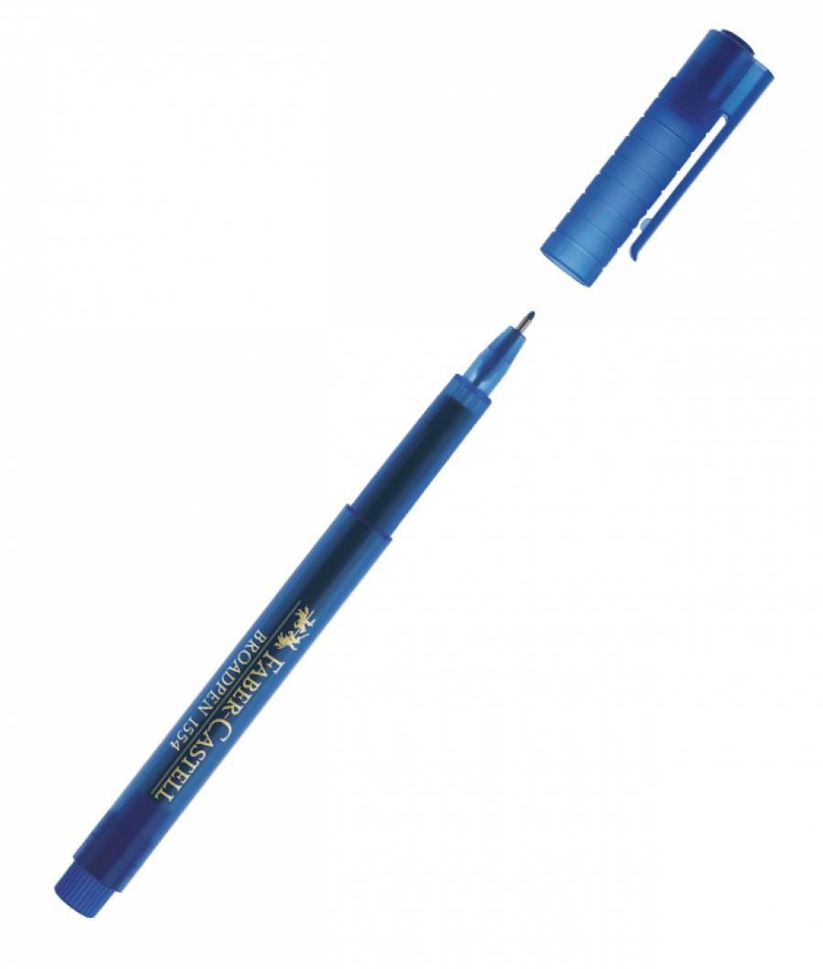 Liner 0.8mm Albastru Broadpen 1544 Faber-Castell