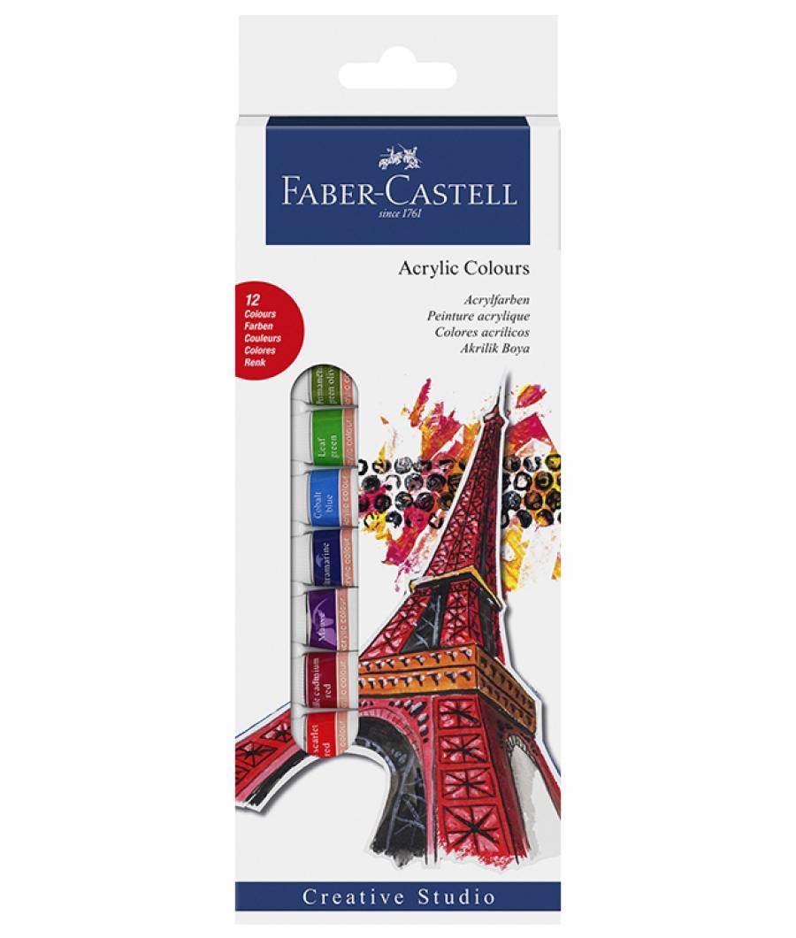 Culori Acrilice 12 Culori 12ml Faber-Castell