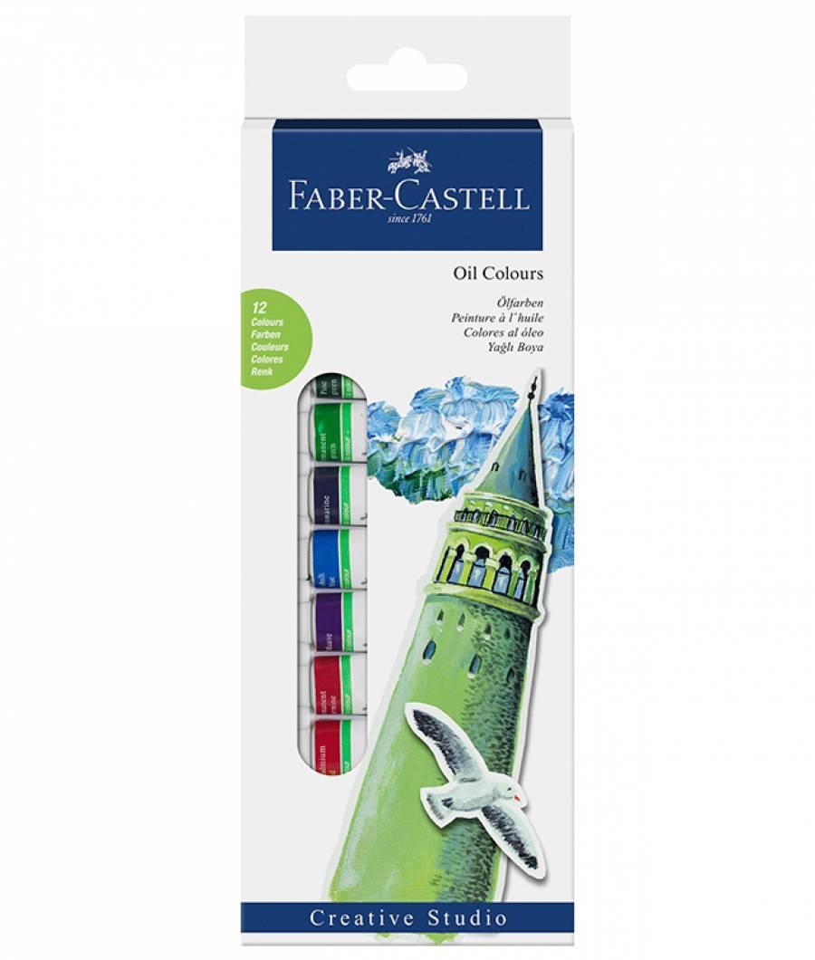 Culori Uleiuri 12 Culori 12ml Faber-Castell