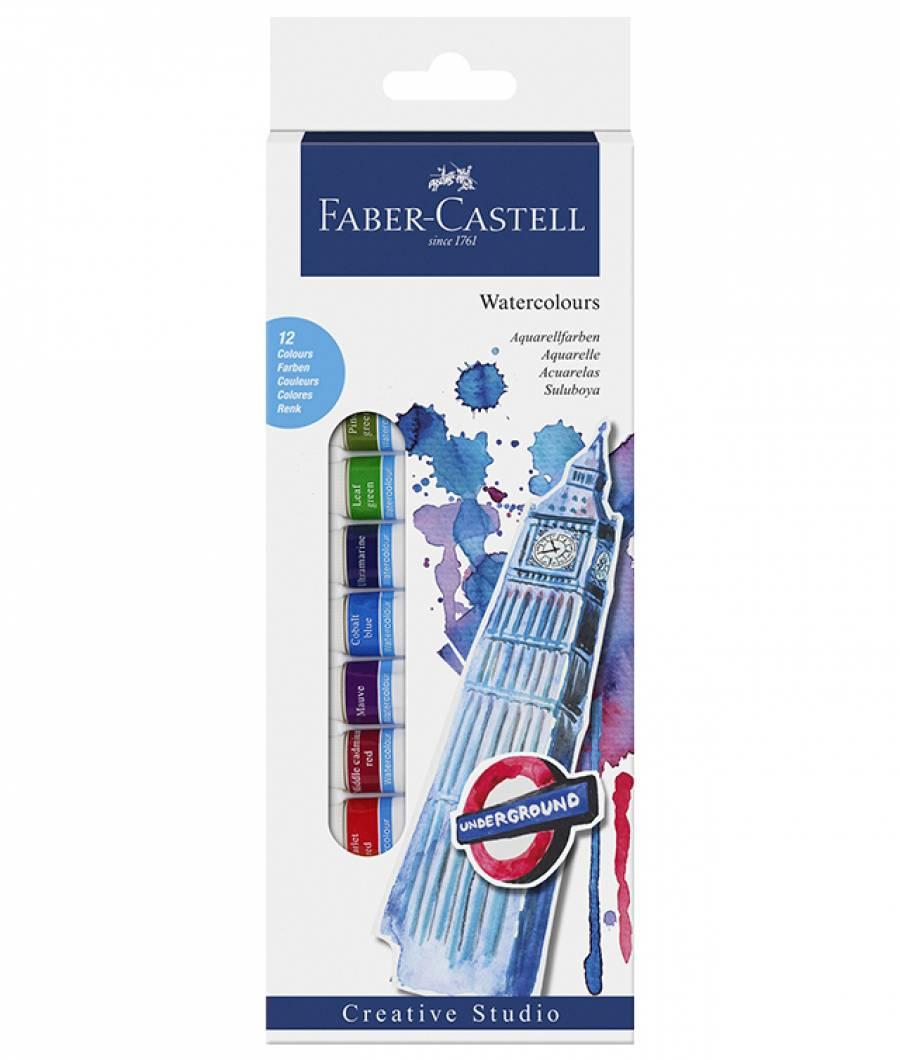 Tempera Acuarele 12 Culori 12ml Faber-Castell