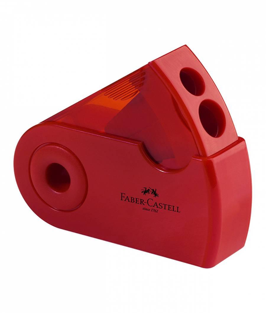 Ascutitoare Plastic Dubla Sleeve Faber-Castell