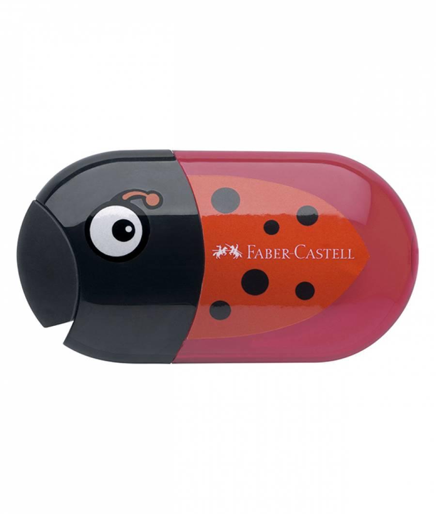 Ascutitoare Cu Radiera Buburuza Faber-Castell