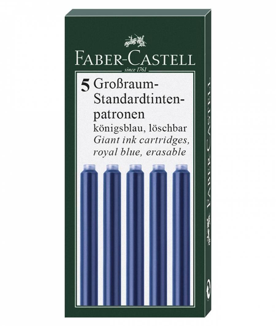 Cartuse Cerneala Mari Albastru 5 Buc/Cutie Faber-Castell