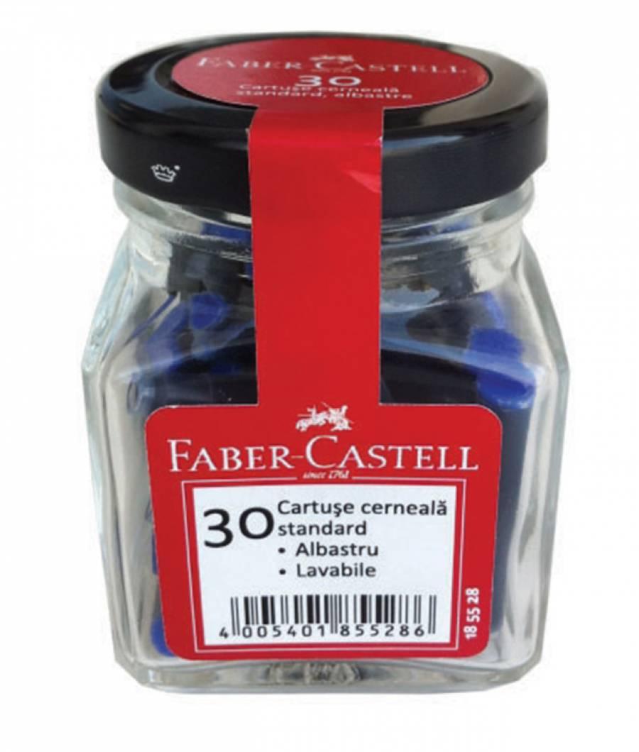 Cartuse Cerneala Mici Albastre 30 Buc/Borcan Faber-Castell