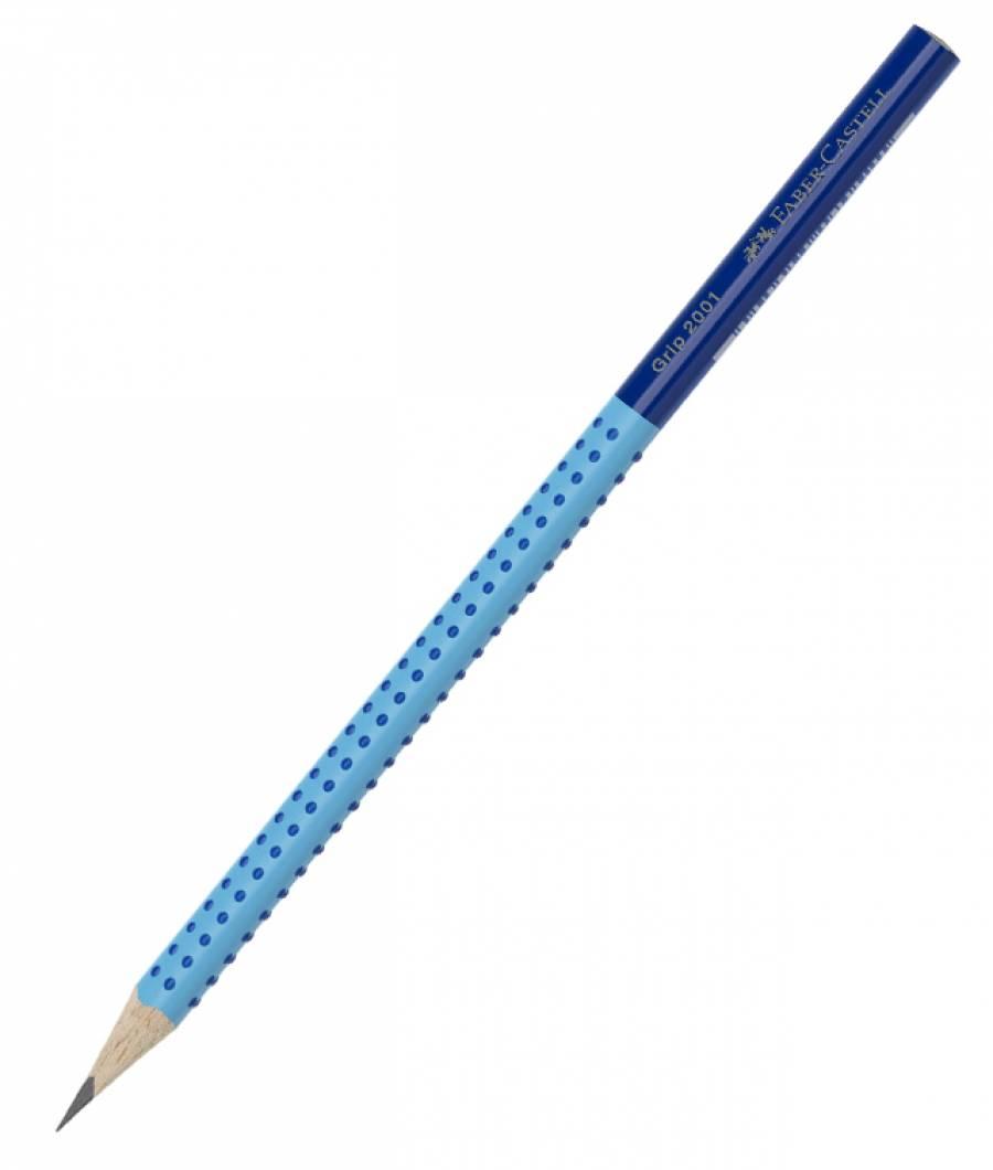 Creion Grafit B Grip 2001 Two Tone Albastru Faber-Castell